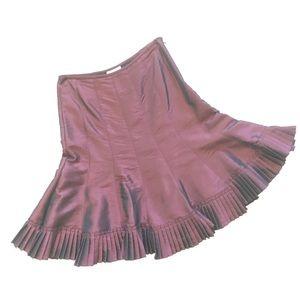 DRAMA Gorgeous Iridescent Plum/Wine Color Skirt
